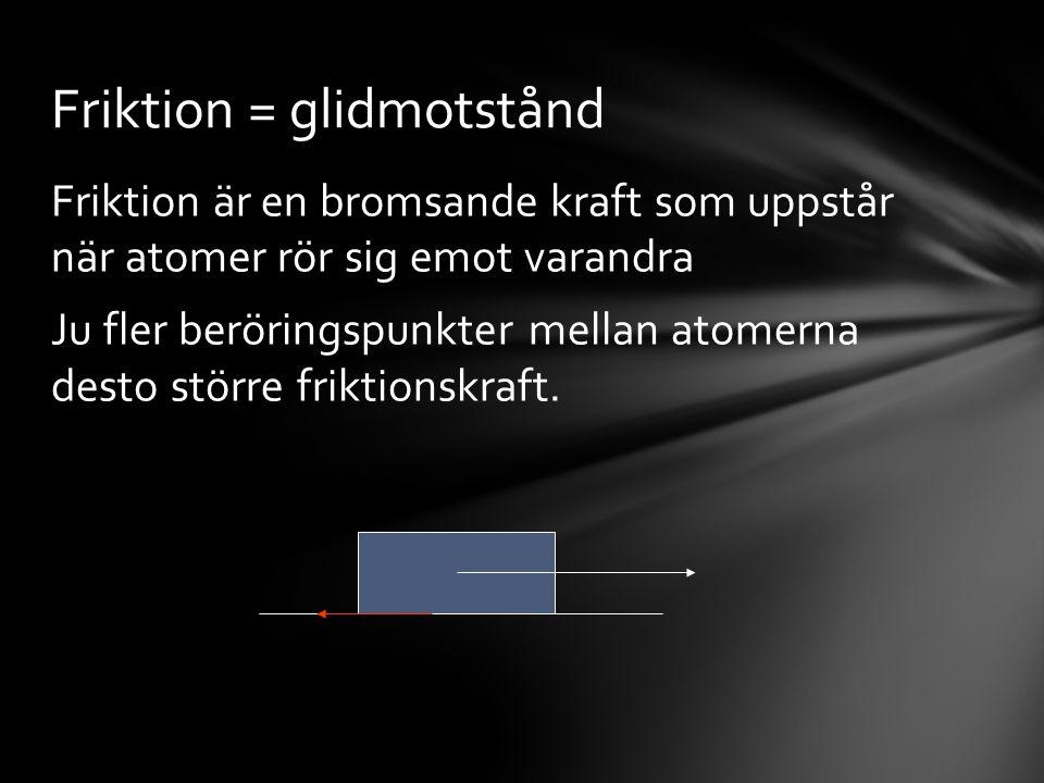 Friktion = glidmotstånd