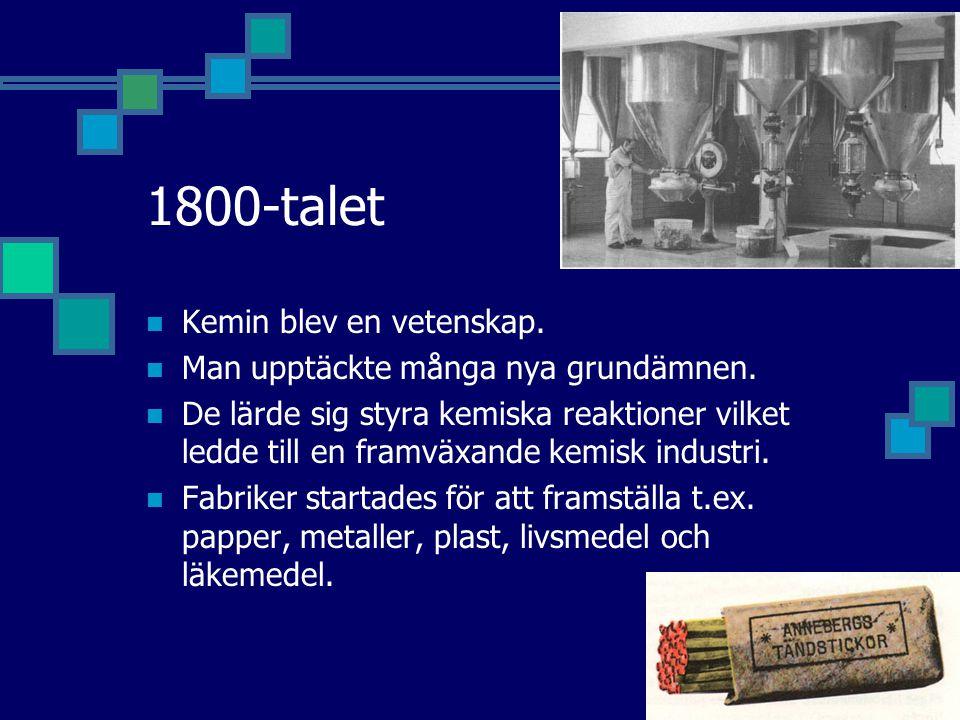 1800-talet Kemin blev en vetenskap.
