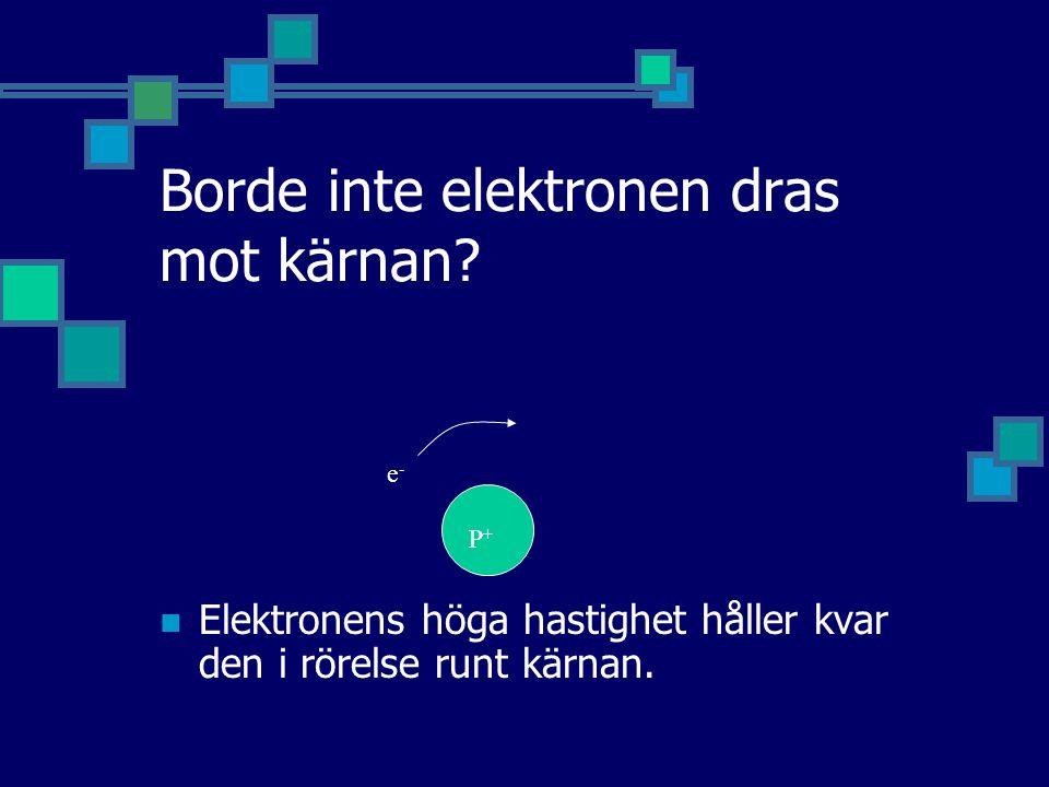 Borde inte elektronen dras mot kärnan