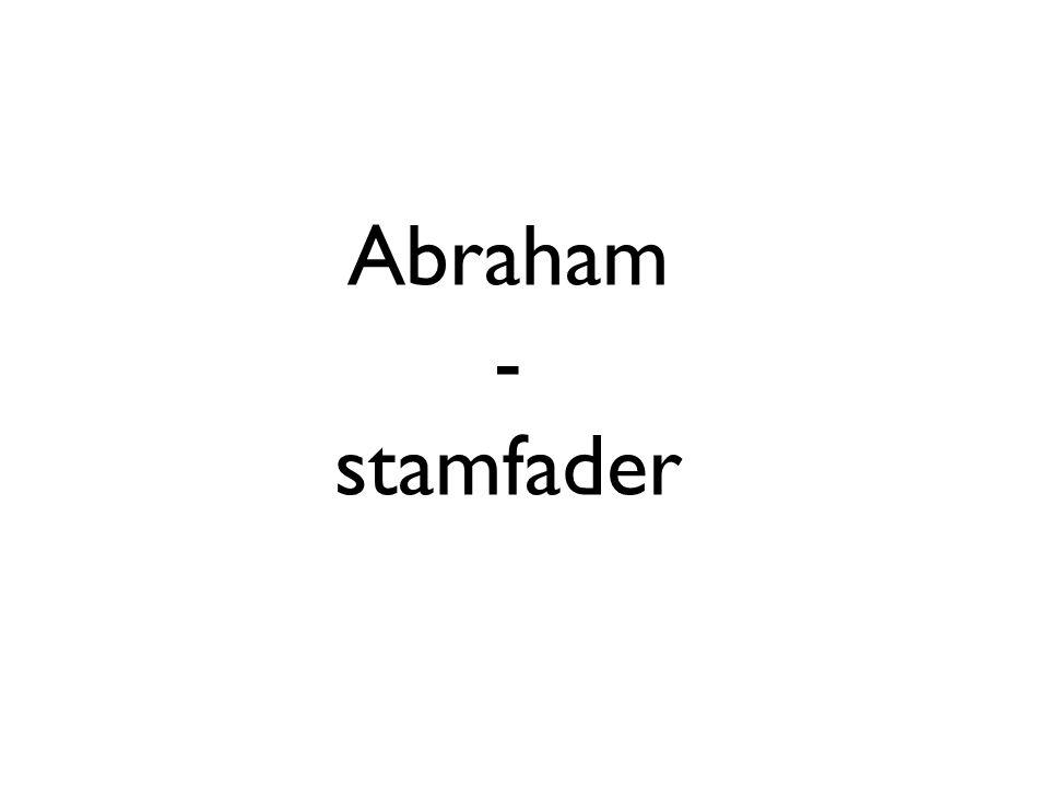 Abraham - stamfader
