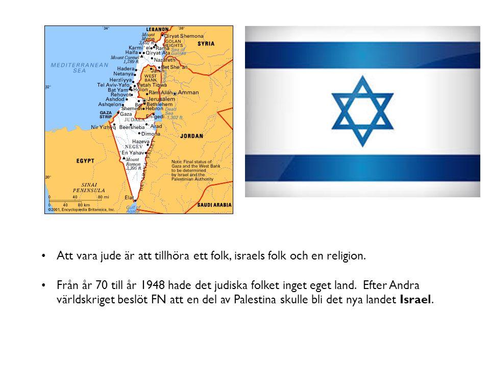 Att vara jude är att tillhöra ett folk, israels folk och en religion.
