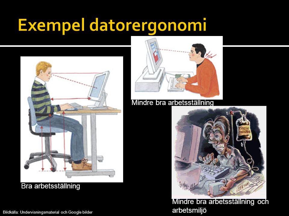 Exempel datorergonomi