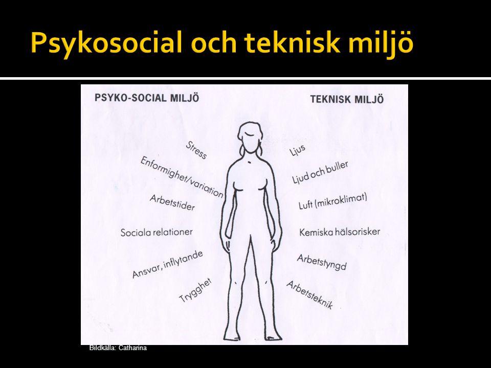 Psykosocial och teknisk miljö