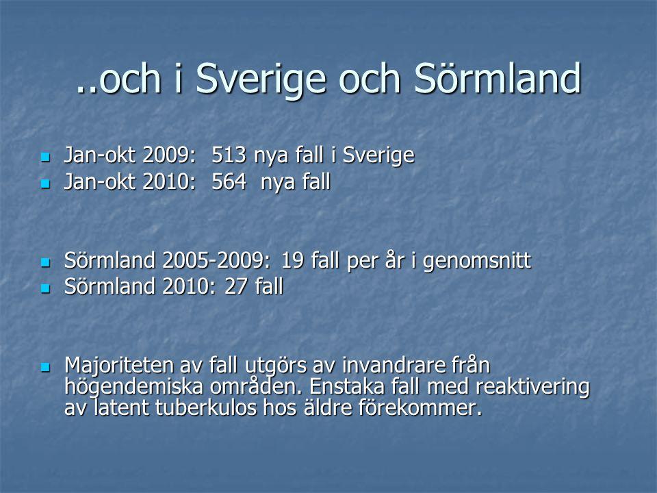 ..och i Sverige och Sörmland