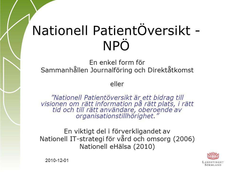 Nationell PatientÖversikt - NPÖ