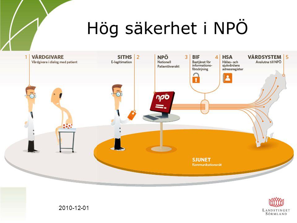 Hög säkerhet i NPÖ 2010-12-01