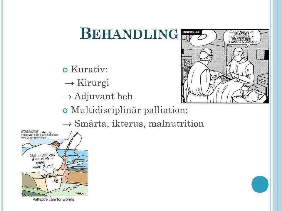 Behandling Kurativ: → Kirurgi → Adjuvant beh