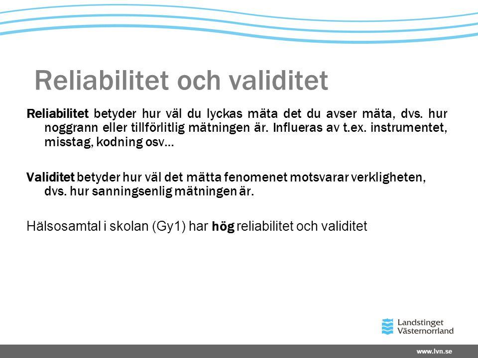 Reliabilitet och validitet