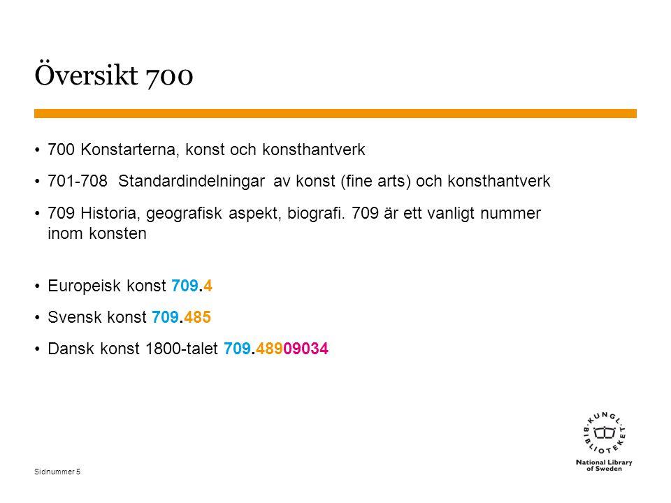 Översikt 700 700 Konstarterna, konst och konsthantverk