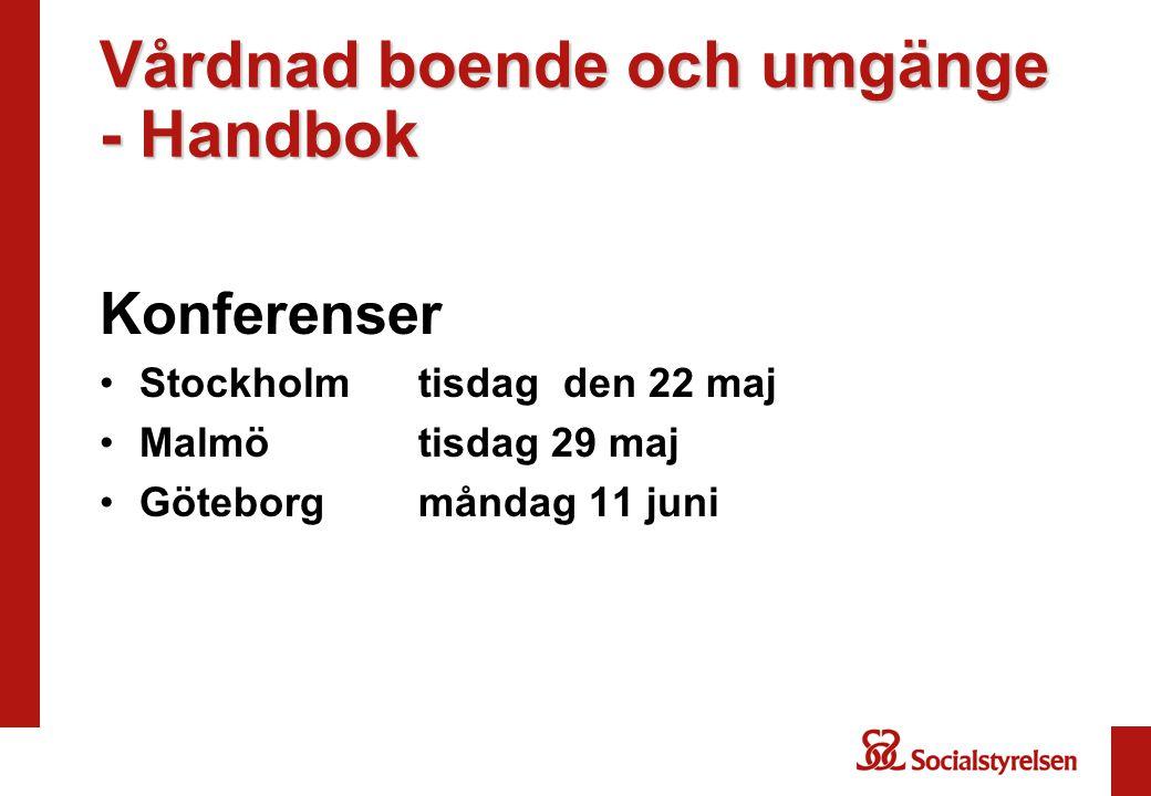 Vårdnad boende och umgänge - Handbok