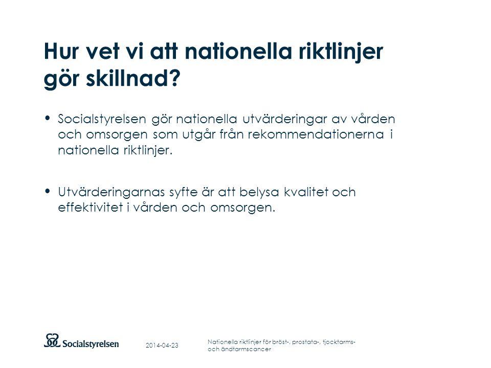 Hur vet vi att nationella riktlinjer gör skillnad