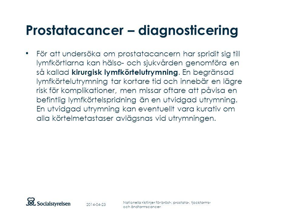 Prostatacancer – diagnosticering