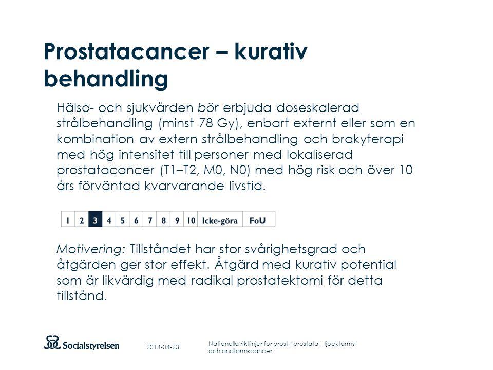Prostatacancer – kurativ behandling
