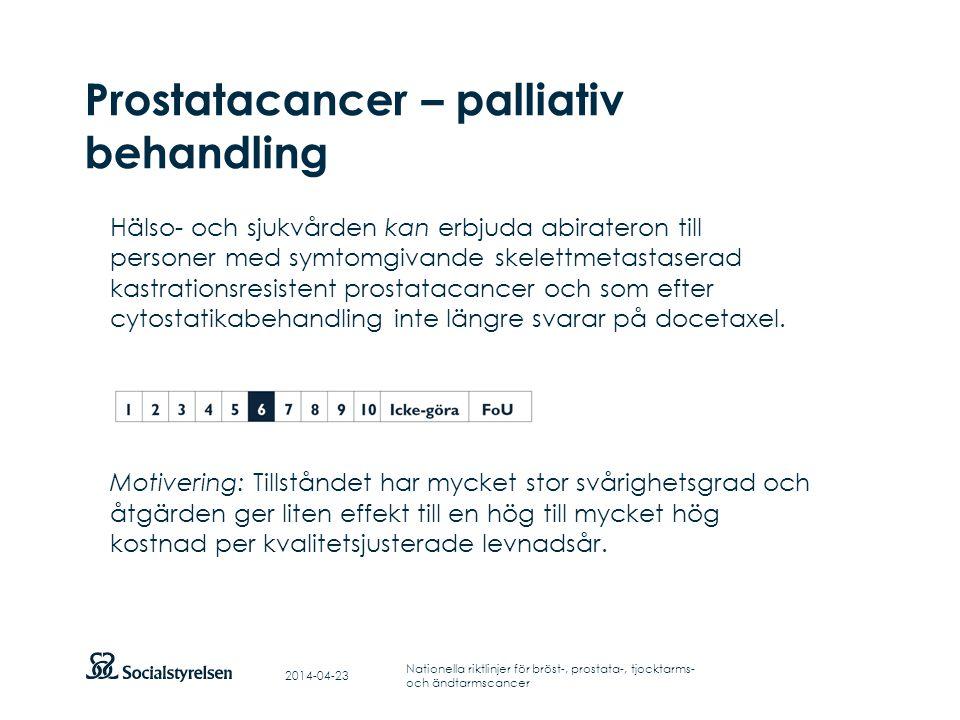 Prostatacancer – palliativ behandling