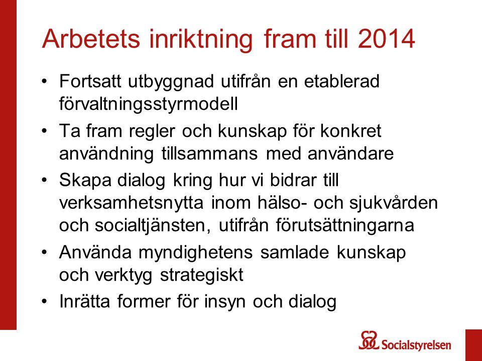 Arbetets inriktning fram till 2014