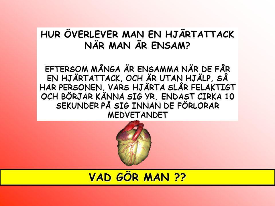 HUR ÖVERLEVER MAN EN HJÄRTATTACK NÄR MAN ÄR ENSAM