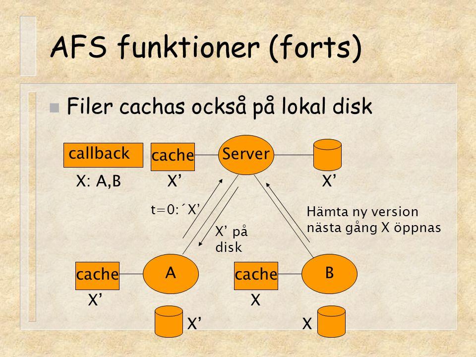 AFS funktioner (forts)