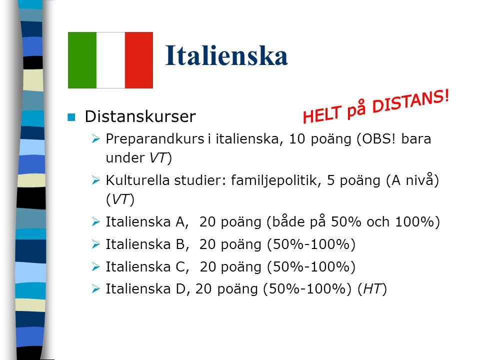 Italienska HELT på DISTANS! Distanskurser