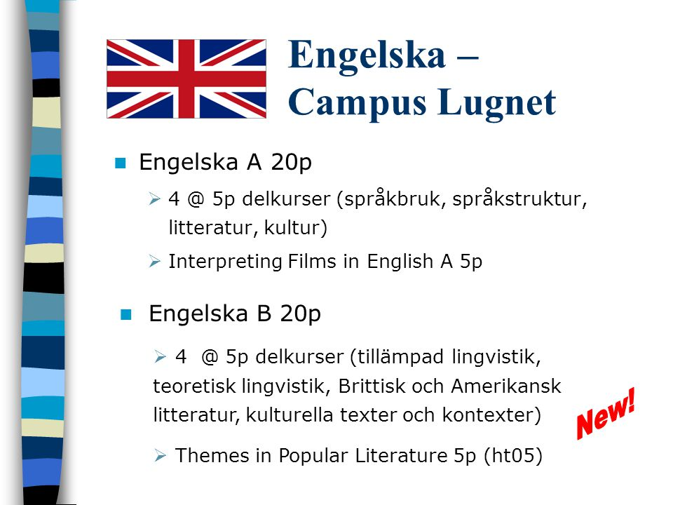 Engelska – Campus Lugnet