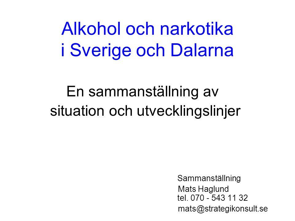 Alkohol och narkotika i Sverige och Dalarna