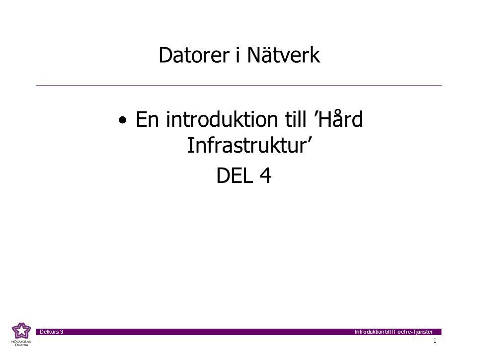 En introduktion till 'Hård Infrastruktur'