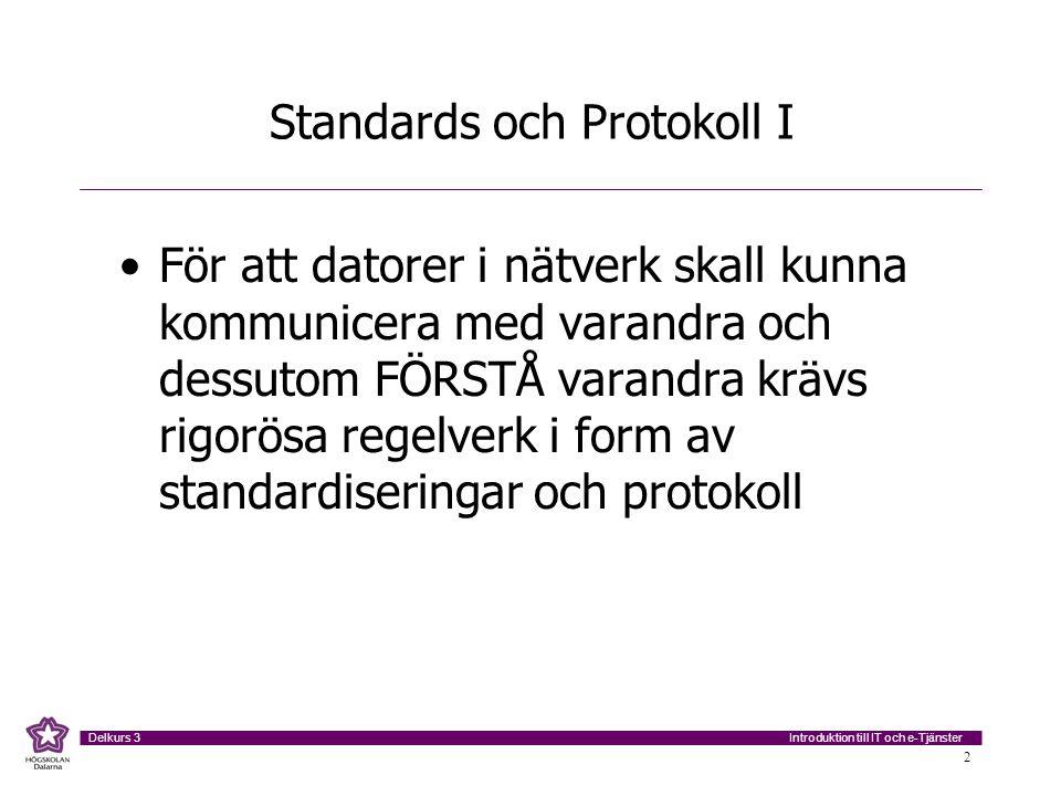Standards och Protokoll I
