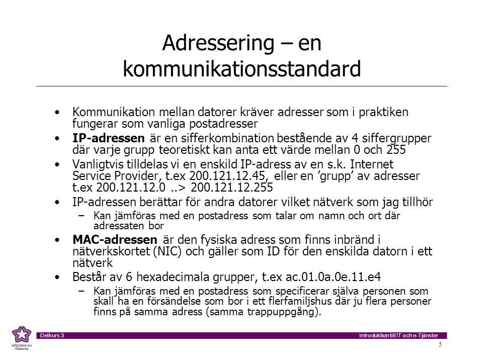 Adressering – en kommunikationsstandard