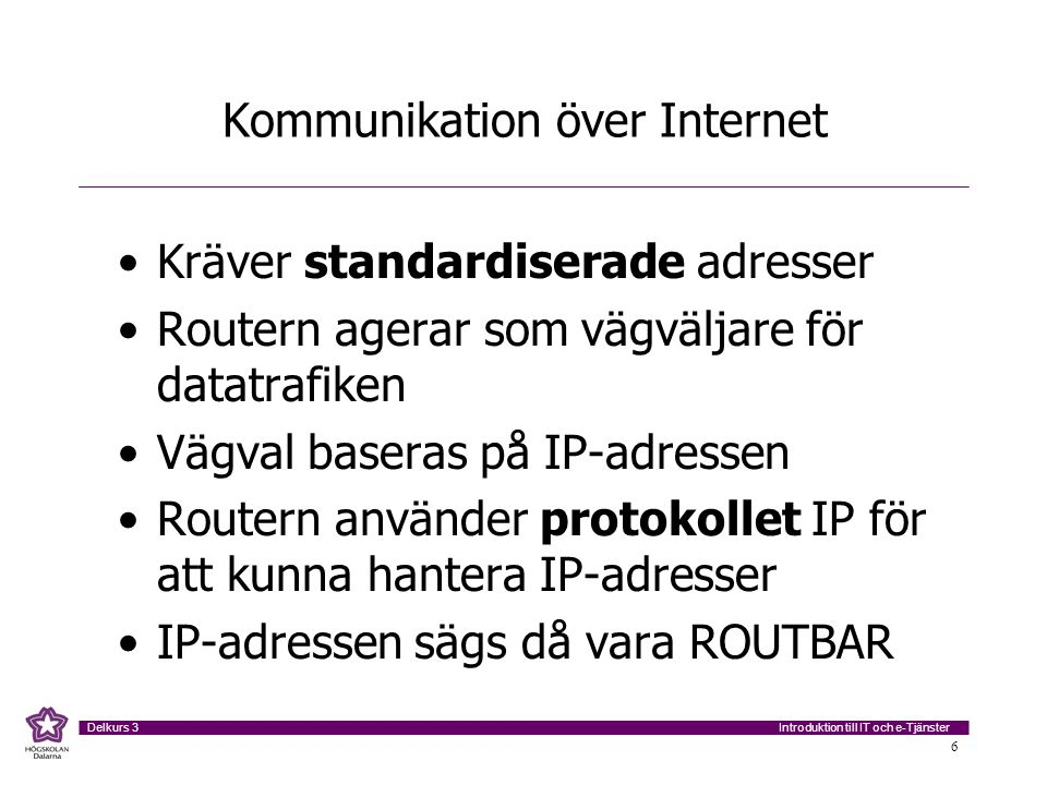Kommunikation över Internet