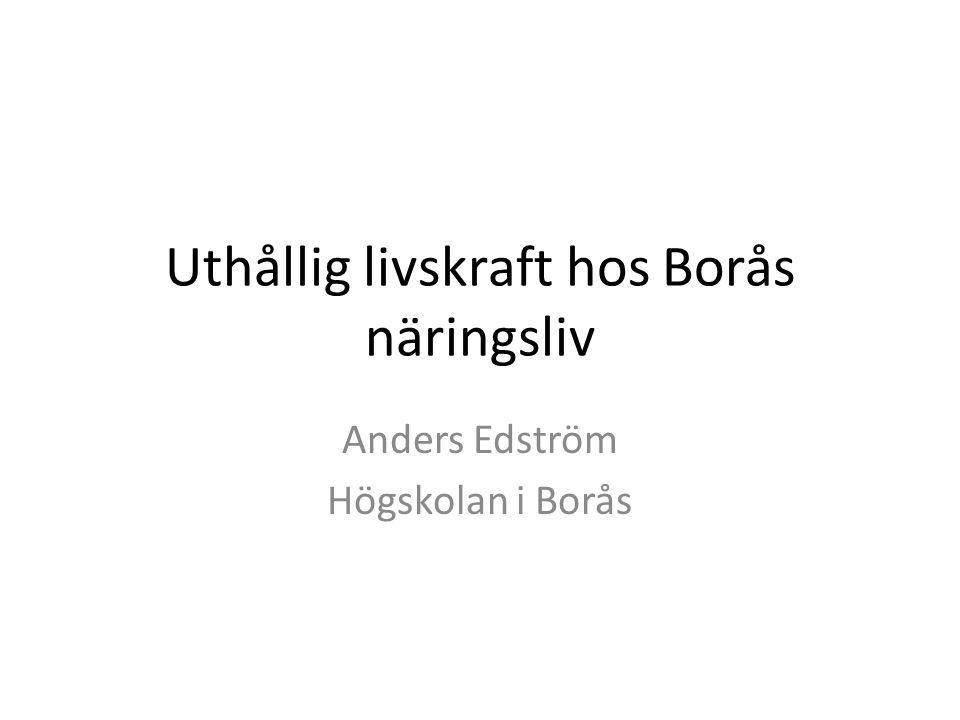 Uthållig livskraft hos Borås näringsliv