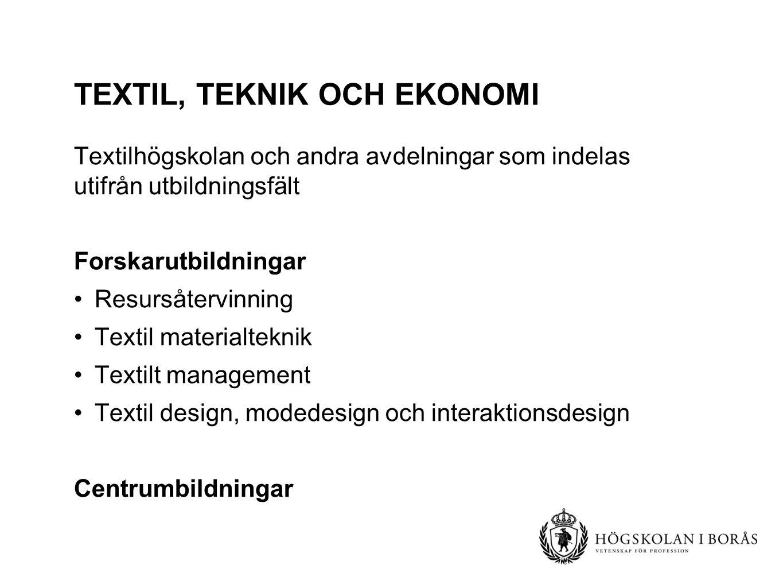 Textil, teknik och ekonomi