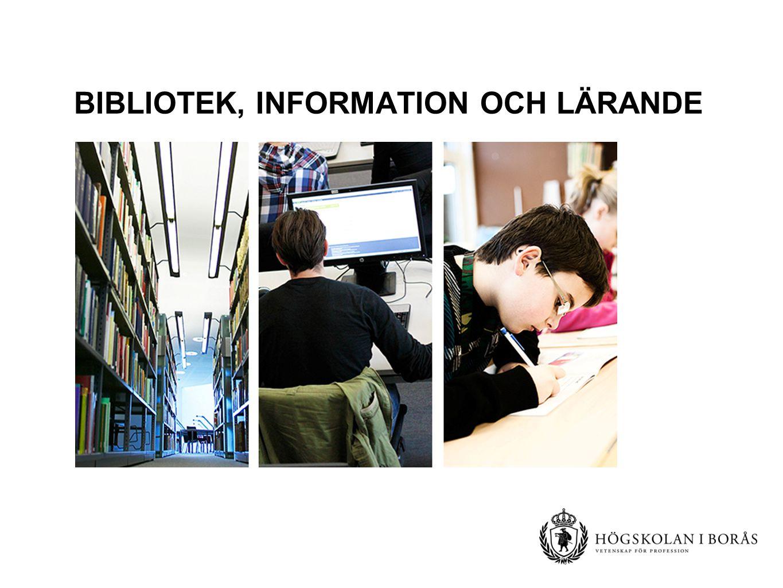 Bibliotek, information och Lärande