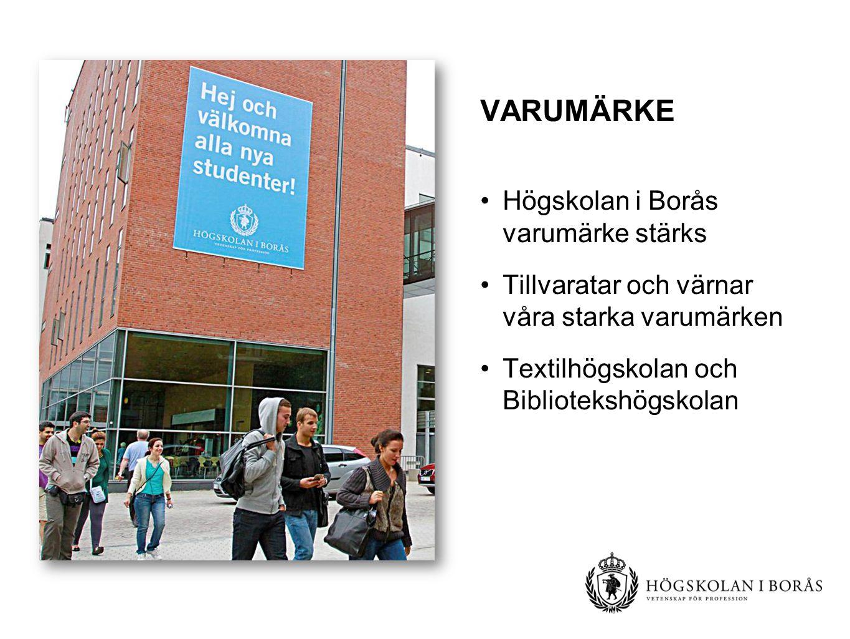 VARUMÄRKE Högskolan i Borås varumärke stärks