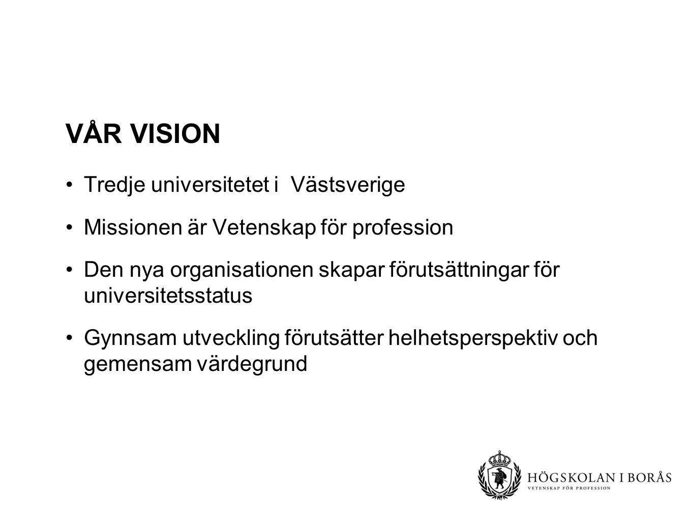 Vår Vision Tredje universitetet i Västsverige