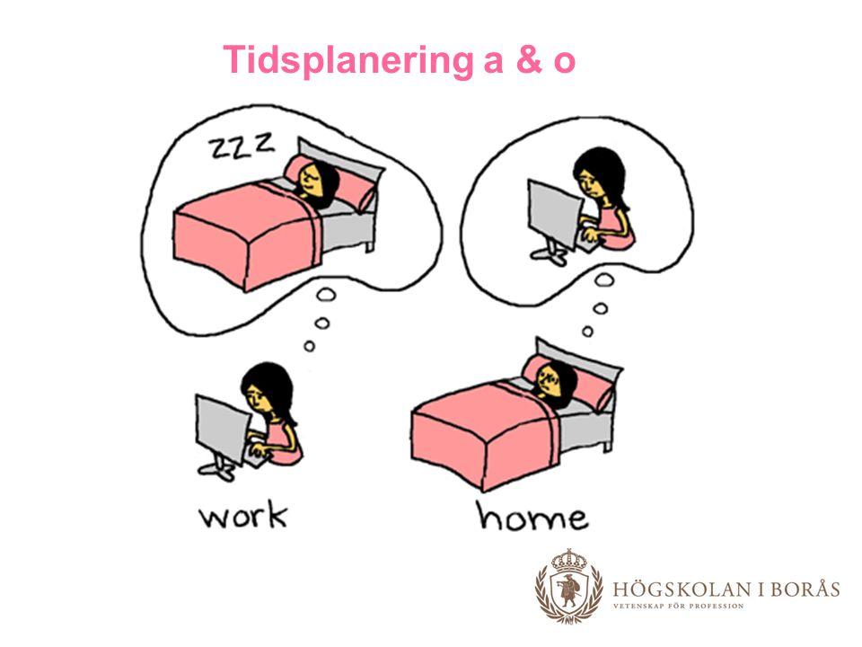 Tidsplanering a & o