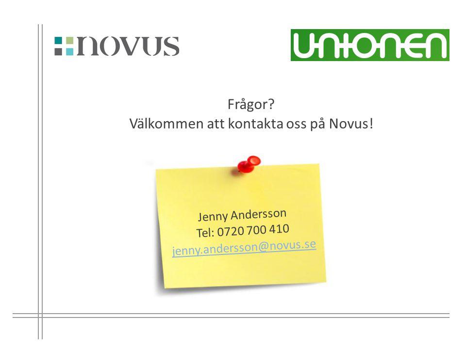 Välkommen att kontakta oss på Novus!