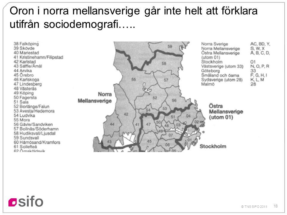 Oron i norra mellansverige går inte helt att förklara utifrån sociodemografi…..