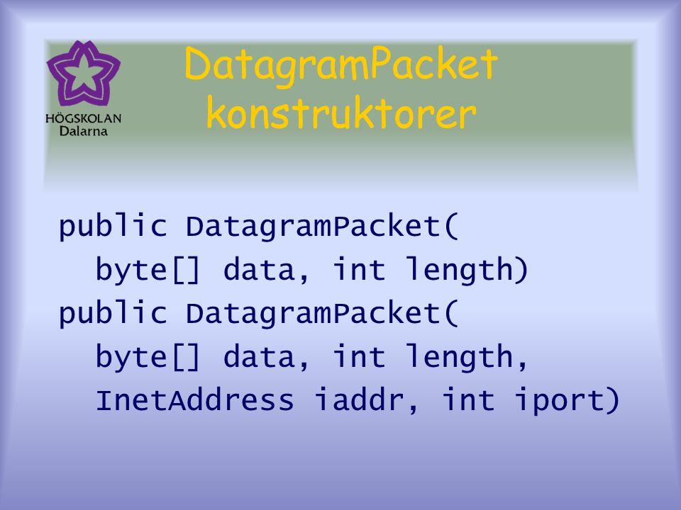 DatagramPacket konstruktorer