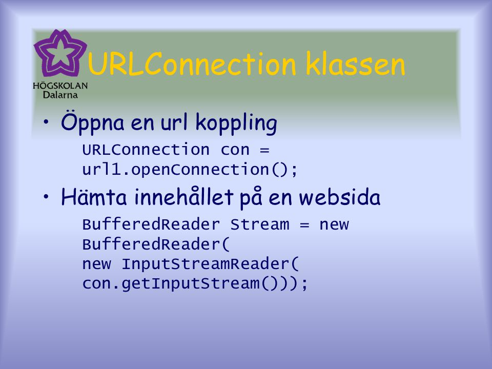 URLConnection klassen