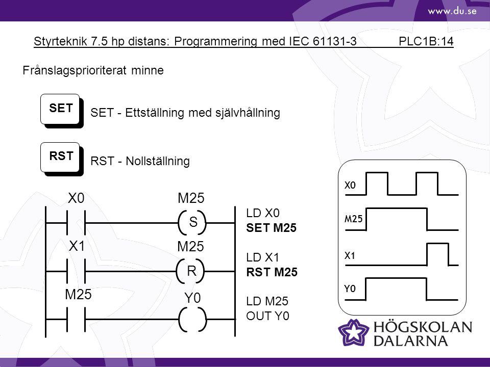 Styrteknik 7.5 hp distans: Programmering med IEC 61131-3 PLC1B:14