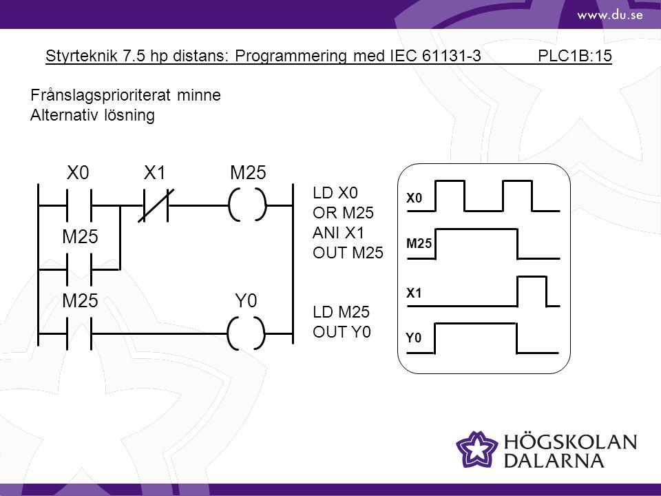 Styrteknik 7.5 hp distans: Programmering med IEC 61131-3 PLC1B:15