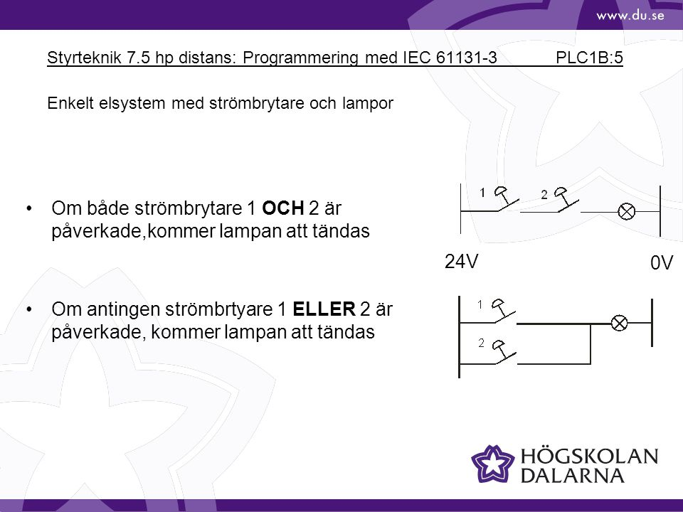 Styrteknik 7.5 hp distans: Programmering med IEC 61131-3 PLC1B:5