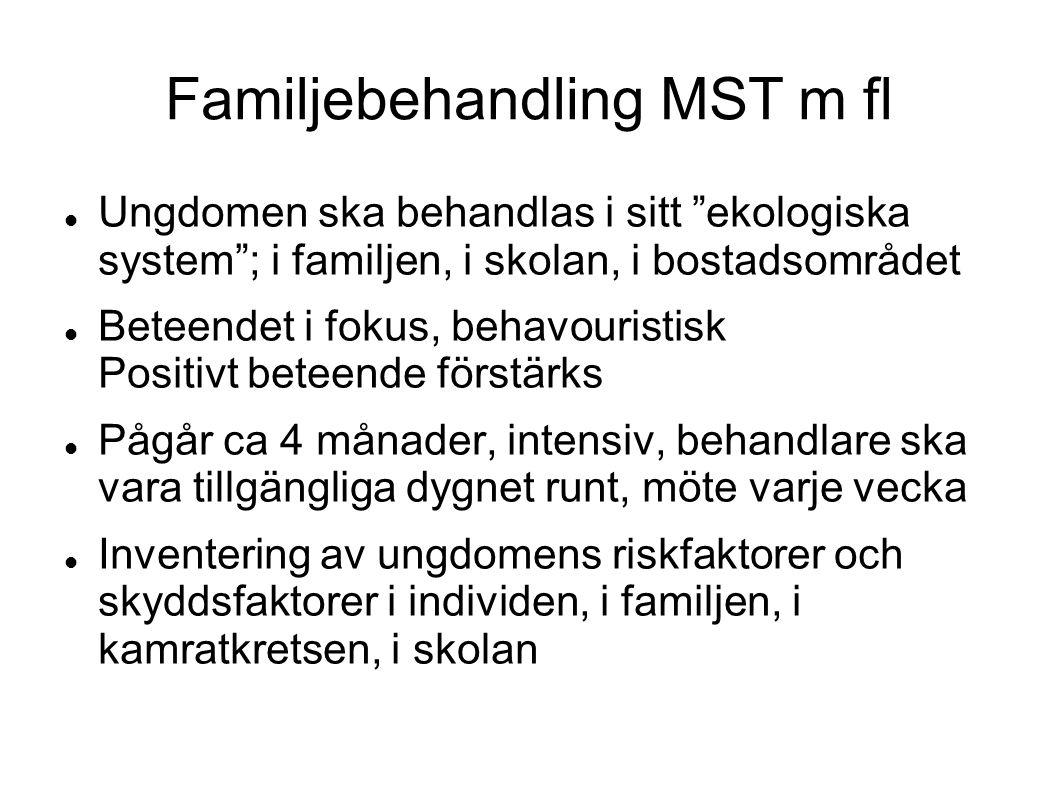 Familjebehandling MST m fl