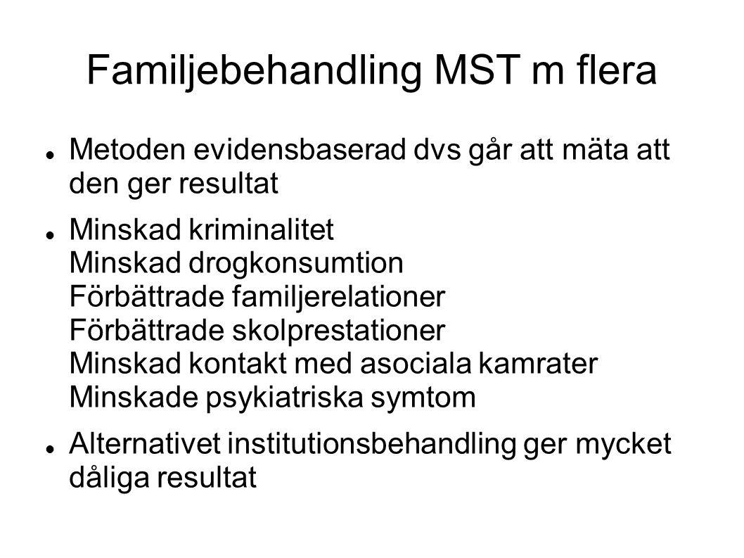 Familjebehandling MST m flera