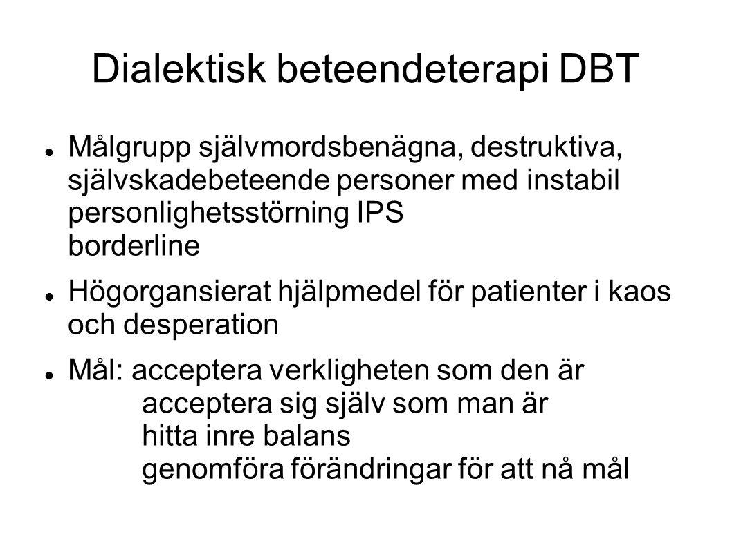 Dialektisk beteendeterapi DBT