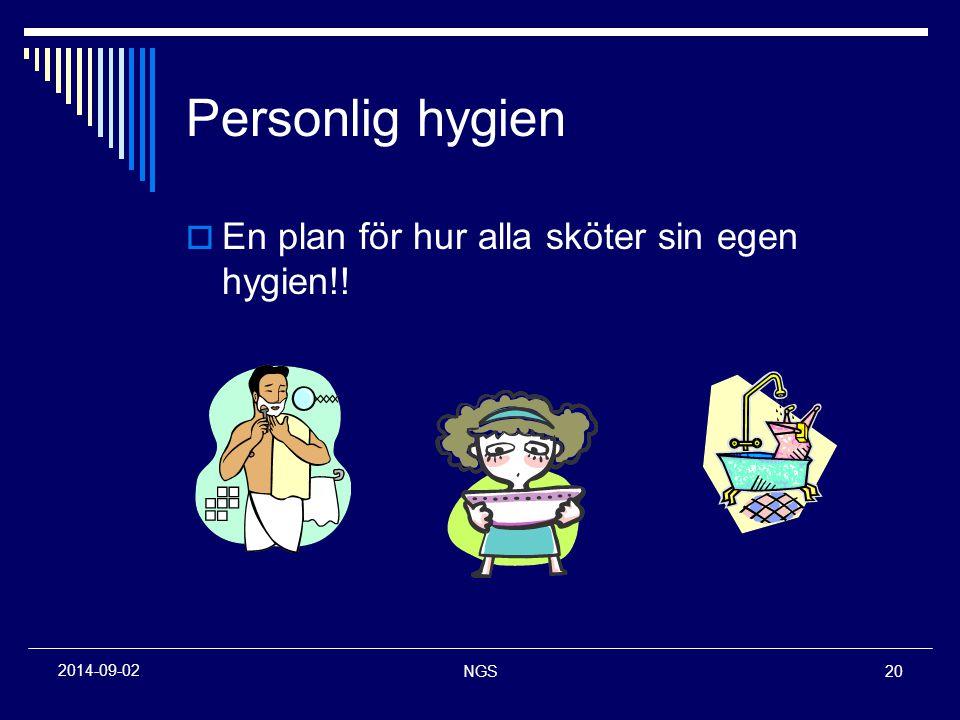 Personlig hygien En plan för hur alla sköter sin egen hygien!!