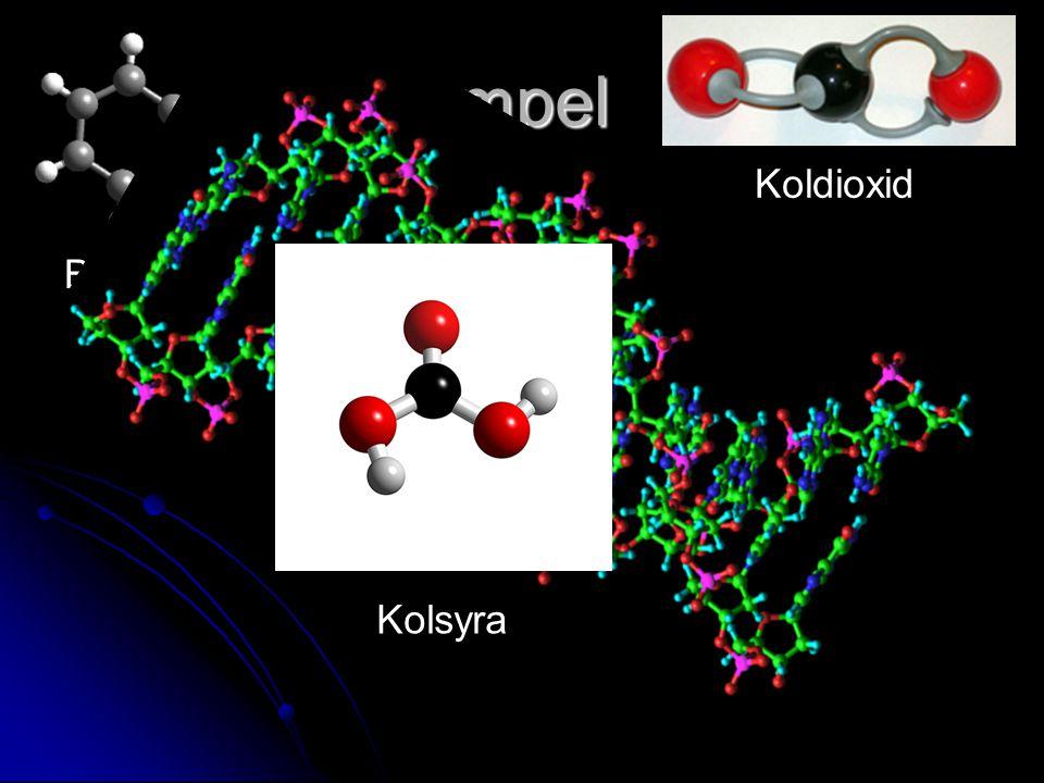 Exempel Koldioxid Bensen Kolsyra