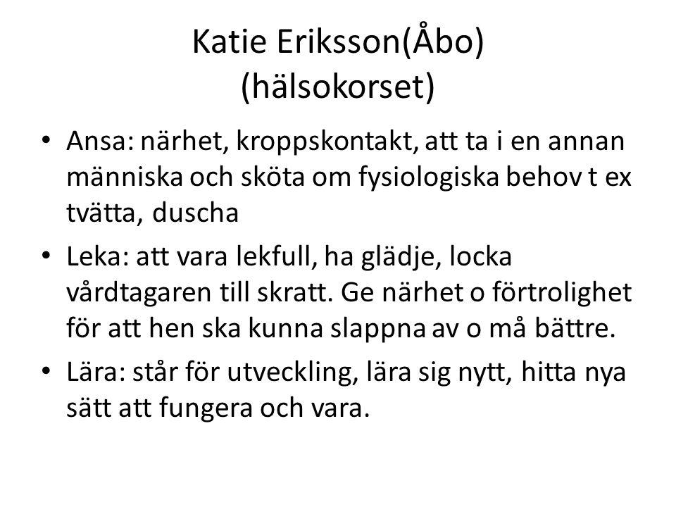 Katie Eriksson(Åbo) (hälsokorset)