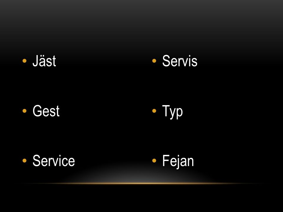 Jäst Gest Service Servis Typ Fejan