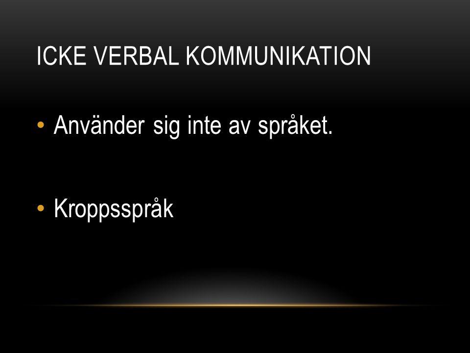 ICKE VERBAL KOMMUNIKATION