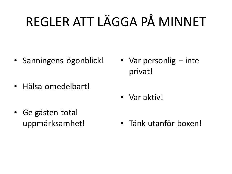 REGLER ATT LÄGGA PÅ MINNET